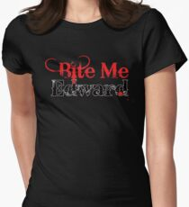Bite Me Edward Womens Fitted T-Shirt