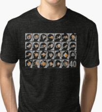 Kamen Rider 40th Anniversary 1971-2011 (Grey and Orange) Tri-blend T-Shirt