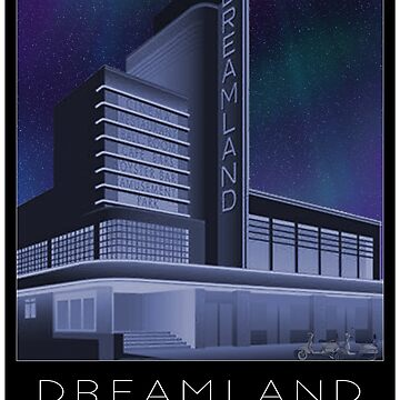 Scooter Poster Dreamland Margate by stevenhouse