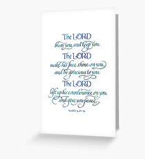 The Lord Bless You and Keep You Greeting Card