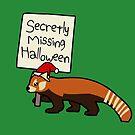 Secretly Missing Halloween (Christmas Red Panda) by jezkemp
