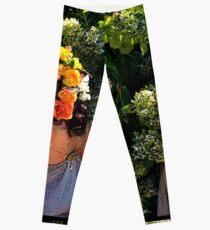 Art Nouveau - Lady Flower Leggings
