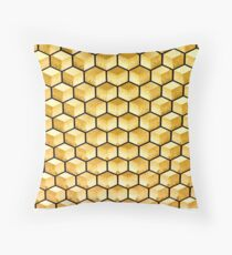 Honeycomb illusion Throw Pillow