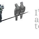 'I'm just a birdy too' Camouflaged dragon  mug by moderndragon