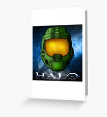 Halo - Master Chief Helmet Greeting Card