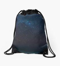 Dark Night Stars Sky Drawstring Bag