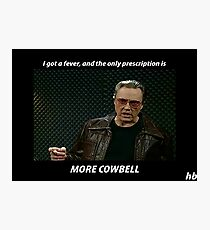 More Cowbell SNL Christopher Walken Shirt Photographic Print