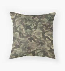 Duck hunt camouflage Throw Pillow
