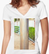 metal pipe Women's Fitted V-Neck T-Shirt