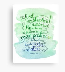 The Lord As My Shepherd Canvas Print