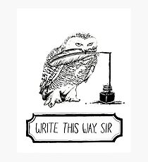 Write this way, sir Photographic Print