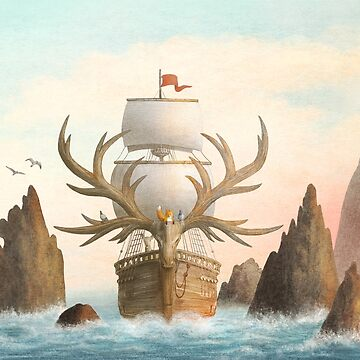 The Antlered Ship_Cover by opifan