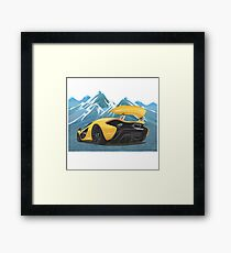 Supercar Style Cold Winter Edition Framed Print