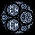 Apollonian Gasket Mandelbrot 002 by Rupert Russell