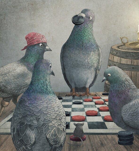 Die Antlered Ship_Pigeons, die Kontrolleure spielen von Eric Fan