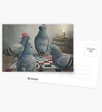 Die Antlered Ship_Pigeons, die Kontrolleure spielen Postkarten