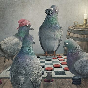 The Antlered Ship_Pigeons Playing Checkers by opifan