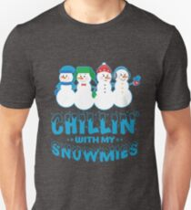 Friendly Snowmen - Chillin with My Homies Unisex T-Shirt