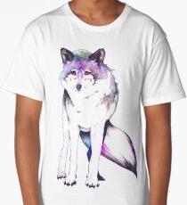 Galaxy Wolf Long T-Shirt