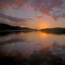 In Reflection - NarrabeenLakes, Sydney Australia by Philip Johnson