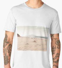 White Sand Beach in the North of Scotland Men's Premium T-Shirt