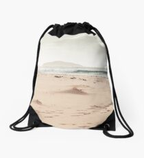 White Sand Beach in the North of Scotland Drawstring Bag