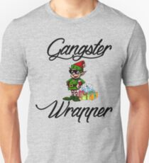 Funny Holiday Christmas Gift Rapper Gangsta Wrapper T-Shirt