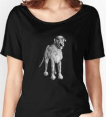 Cute Irish Wolfhound - Dog - Dogs - Gift - Cartoon Women's Relaxed Fit T-Shirt