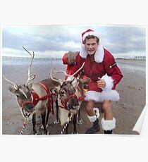 Christmas Hasselhoff Poster