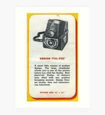 "Old School Analogue Kodak Ensign ""Ful-Vue"" Art Print"