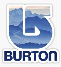 Burton Snowboards Purple Mountain Sticker