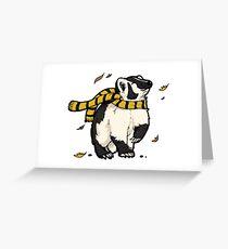Inktober - Badger Greeting Card