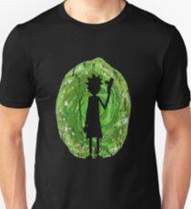 Rick and Morty - Portal Silhouette (alt) Unisex T-Shirt