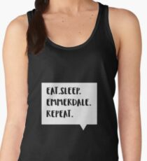 Eat. Sleep. Emmerdale. Repeat. Women's Tank Top