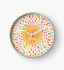Don't Give Up In Color Clock