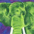 green elephant by luckylittle