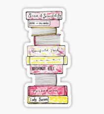 Novels of Jane Austen - Watercolor Sticker