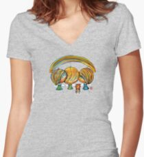 A Rainbow of Angels TShirt Women's Fitted V-Neck T-Shirt