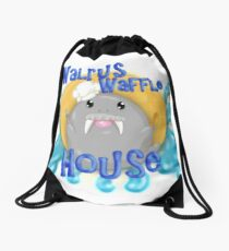 Walrus Waffle House Drawstring Bag