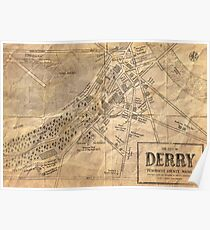 Map of Derry, Maine | Stephen Kings IT Poster