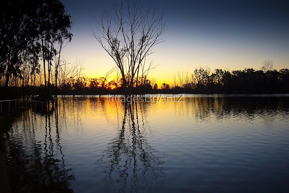 Lake at Sunset by ImagesByAntZ