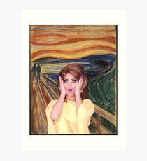 Rupaul's Drag Race - Alyssa Edwards - The Scream Art Print