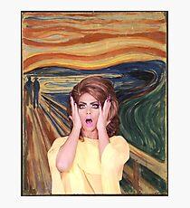 Rupaul's Drag Race - Alyssa Edwards - The Scream Photographic Print