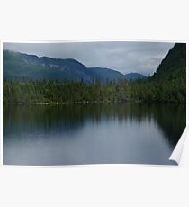 Forecasting Rain - Forest Lake Reflections in Charlevoix, Quebec, Canada Poster