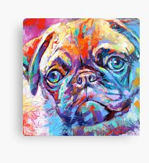 Pug in vibrant colours Canvas Print