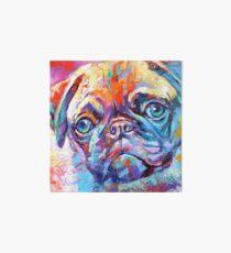 Pug in vibrant colours Art Board