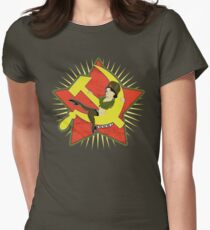 CCCP Pinup Women's Fitted T-Shirt