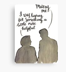 Mulder & Scully Wedding Proposal X Files Quote Canvas Print