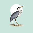 Fischreiher - Edward Lear von Constanze von der Goltz