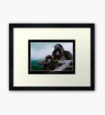 """""""Precious"""" (Mountain Gorillas) Framed Print"""